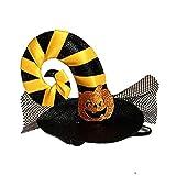 GZQ Gorro para Gato, Disfraz de Halloween para Mascotas, Sombrero del Perro para Cosplay, Ropa para Mascotas (Cinta Amarilla)