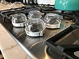 S&S Küchenofen Knopf Abdeckungen, Baby Sicherheit Ofen Gasherd Gas Ofenschloss für Baby Kind Kleinkind Küche Sicherheit-Set von 4 (#1)