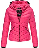Marikoo Damen Jacke Steppjacke Frühling Herbst Übergangsjacke Daunen Look Kuala (S-36, Pink)