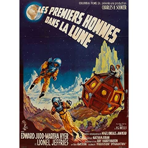 First hombre the Moon 27 x 40 en Póster de película French - 69 cm x 102 cm Martha Edward Hyer Judd Lionel Jeffries Erik Chitty Peter