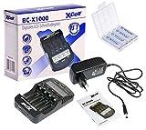 Akkuman.de Set BC-X 1000 Schnellladegerät mit LCD-Display + 4X eneloop AA Akku 1,2V 2000mAh + Box