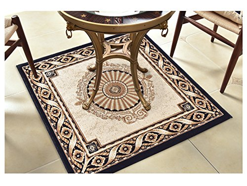 WSLTH European Black Gold Entrance Door Mat Non-Slip Porch Living Room Bedroom Bed Blanket Door Sill Pad Thickening (1*1m)