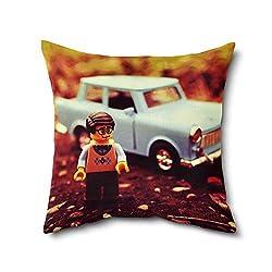 Baby Print Cushion, Digital Print Cushion Covers, Printed Cushion , Poly Cotton Cushion Cover With Filler-12 X 12 Inches