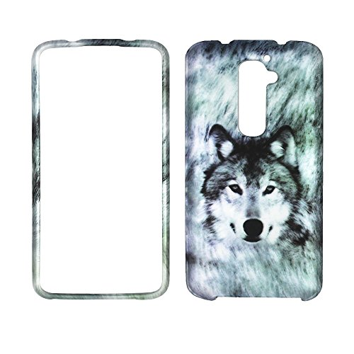 2D Snow Wolf LG G2 D802 (Passform nur AT & T T-Mobile) Case Cover Snap On Cover Fällen Displayschutzfolie Blenden Displayschutzfolie Lg G2 Verizon