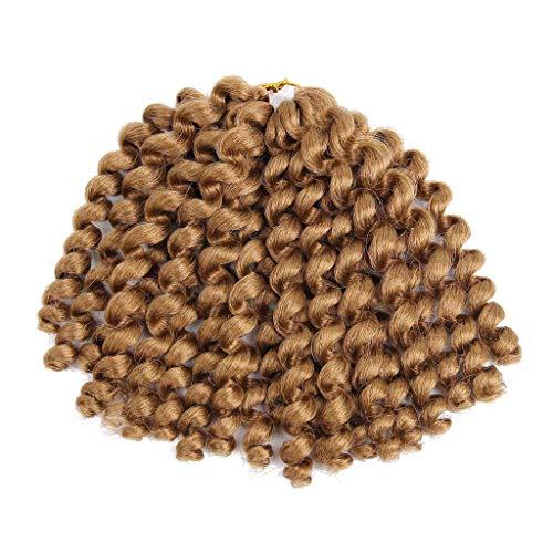 ür Frauen brasilianischen jungfräuliches Haar körper Welle perücke Mode hübsche Frau Mädchen Farbverlauf Twist Häkeln Zöpfe Extensions Perücken(E) ()