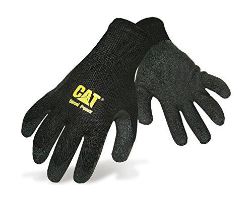 CAT Caterpillar Workwear knitted Gripper Gloves Work Gloves 3 Pairs Medium Black...
