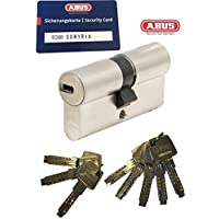 ABUS EC660doppio cilindro Lunghezza (a/b) 50/50mm (C = 100mm) con 8chiave, con scheda di sicurezza...