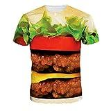 Jiayiqi Deliciosa Carne De Hamburguesas Camiseta De Spandex Tramo Camisetas para Los Hombres De Las Mujeres