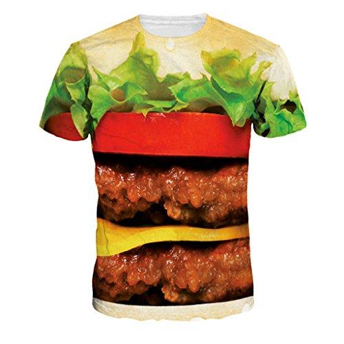 mode-couple-t-shirts-savoureux-roi-du-hamburger-lache-chemises-vente-chaude