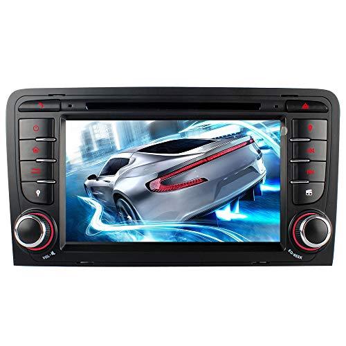 IAUCH 7 Doppel DIN Auto Stereo GPS Navigation mit Karten-Updates Bluetooth Freisprechanrufe/VMCD/DVD Radio/USB/SD/Audio/Video, unterstützt 3G / DAB+ GPS Navigator für Audi A3 S3 RS3 8P 8PA