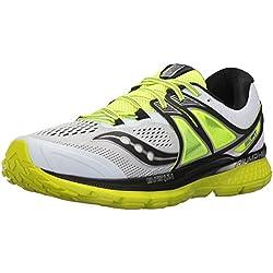 Saucony Triumph ISO 3, Zapatillas de Running para Hombre, Blanco (White/Black/Citron), 41 EU