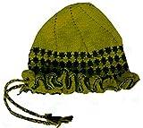 New Mehndi Woollen Caps