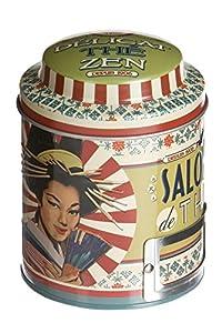 NATIVES 510070 Délicat thé zen Boîte à thé Métal Multicolore 9 x 9 x 11,5 cm
