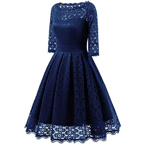 (Damen V-Ausschnitt Abendkleid Kurzarm Business Etuikleid Knielang Festliches Kleid rot,Blau Gr.S-3XL,binggong tops,Damen Elegant Chiffonkleid Sommerkleid Partykleid Hochzeit Kleid (sexy blau, s))