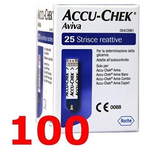 Accu chek aviva - 100 strisce reattive per test della glicemia - accu check