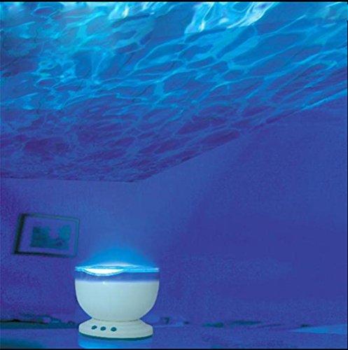 GJY LED BELEUCHTUNGNeue Romantische Led-Nachtlicht-Blaue Ozean-Lampe Verziert Mit Minilautsprecher (Draht Kopfhörer Ersatz)