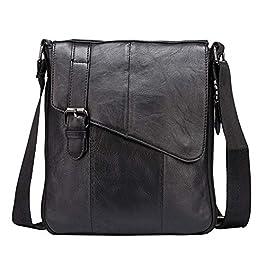 Borsa a tracolla in pelle da uomo, tracolla vintage, borsa da lavoro per viaggi di lavoro scolastici e vita quotidiana