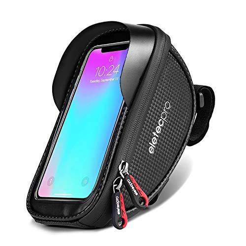 Fahrrad Rahmentaschen, EletecPro Fahrradtaschen Handyhalter Lenkertasche Fahrrad Wasserdichte Handyhalterung für iPhone 7 Plus/6s/6 Plus/Samsung s7 andere Smartphone bis zu 6 Zoll
