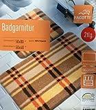 2-teilige Badgarnitur 50x80 cm 50x40 Fußbodenheizung geeignet braun