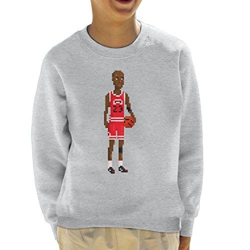 Michael Jordan Body Pixel Kid's Sweatshirt (11 Space Kids Jam)