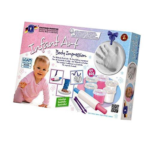 Feuchtmann Spielwaren 6280822 - Infant Art Body Impression, Baby Modellier-Set, 12-teilig