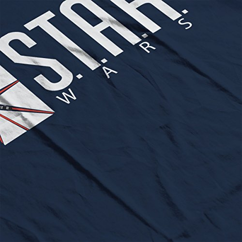 Star Wars Labs Flash DC Comics White Women's T-Shirt Navy Blue