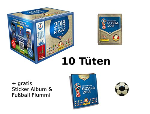 8 Sticker - 10 Tüten + gratis Sticker Album & Fußball-Flummi, Marke: Sellmando (Fifa Wm Sticker Album)