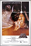 Star Wars Poster Style 'A' - American (93x62 cm) gerahmt in: Rahmen silber