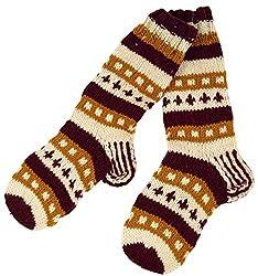 Guru-Shop Handgestrickte Schafwollsocken, Nepal Socken, Herren/Damen, Mehrfarbig, Wolle, Size:L (40-43), Socken & Beinstulpen Alternative Bekleidung