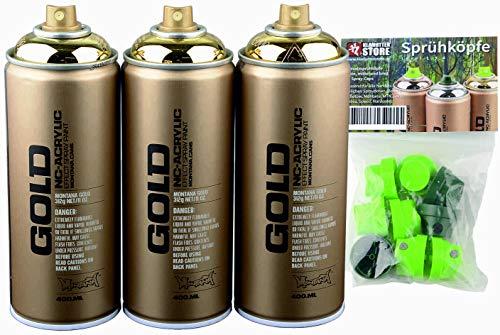 Sprühdosen Set Montana Gold 3x400ml M3000 goldchrom -