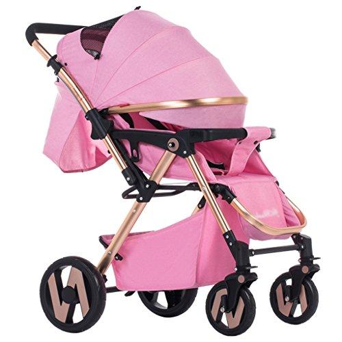 Anna Baby-Spaziergänger-Reise-System Baby Trolley kann sitzen Hoch-liegend Vier-Rad-Schock Super Wide Zwei-Wege-Baby-Trolley Verstellbarer Kinderwagen Kinderwagen