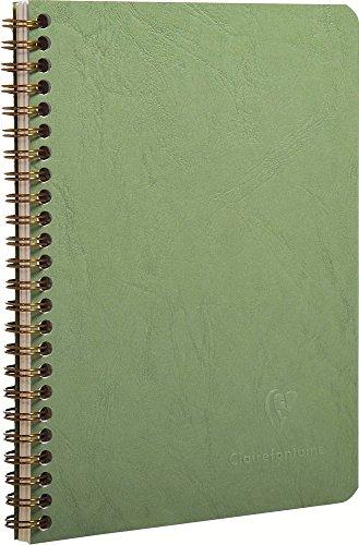 789993C Clairefontaine registrarse en espiral, A5, Agebag cuadros, 90 hojas, verde