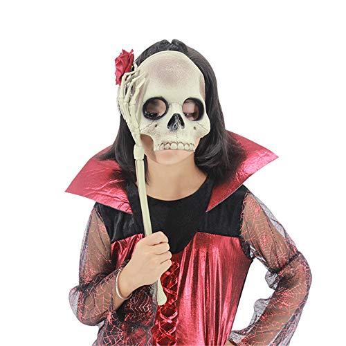 s Halloween Maske Skelett Halbes Gesicht Augenbinde Kopfbedeckung Terror Grusel Spukhaus Cosplay Unfug Maskerade ()