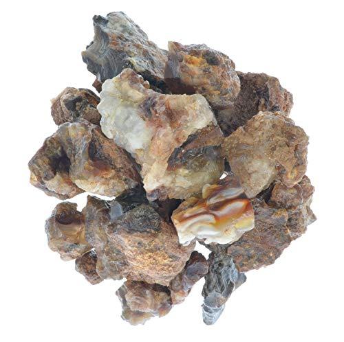 Digging Dolls Muñecas excavadoras: 1/2 LB de Piedras de ágata de Fuego de México - Mine Run Raw Rocks Lapidary, Tumbling, Pulido y Manualidades.