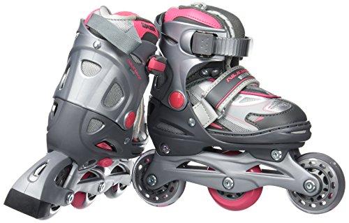 nijdam-paire-de-rollers-pour-fille-chausson-reglable-34-37-rose-anthrazit-silber-fuchsia