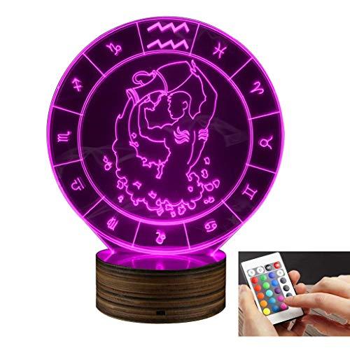 3D dekoratives Nachtlicht 3d led lampe taurus nachtlicht optische illusion mit fernbedienung 16 farben mit usb ladegerät fernbedienung schalter umgebungslicht als schlafzimmer dekoration für kinder ge -