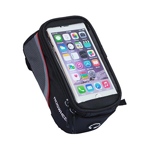 """Fafada 5,5"""" Fahrrad Tasche Case Schutz Halter Oberrohr Handy Hülle Cover für Iphone Samsung HTC Rot"""