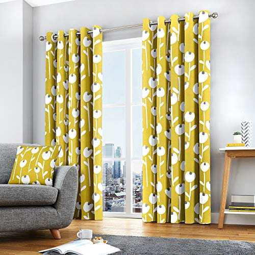 Fusion – alabar, 100% cotone, ochre, curtains: 66
