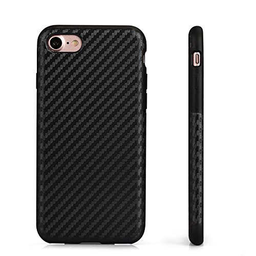 iPhone 8 Plus iPhone 7 Plus Schutzhülle Hülle Back Hard Cover Case TPU Bumper in Carbon Optik in Blau von VAPIAO Schwarz