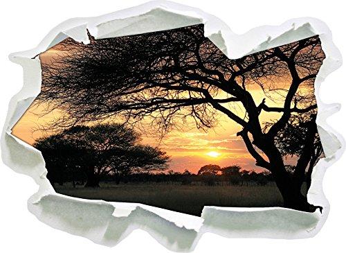 savana-africana-nel-formato-autoadesivo-crepuscolo-carta-da-parati-3d-92x67-cm-decorazione-della-par