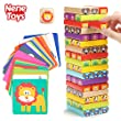 Nene Toys - Torre Magica Colorata in Legno con Animali - Gioco Educativo da Tavolo per Bambini - Gioco Didattico 4 in 1 per Bambini da 3 a 9 …