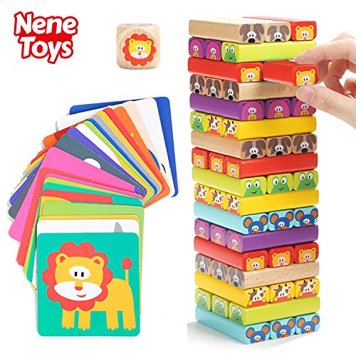 Nene Toys - Torre Bloques Madera 4 1 Colores