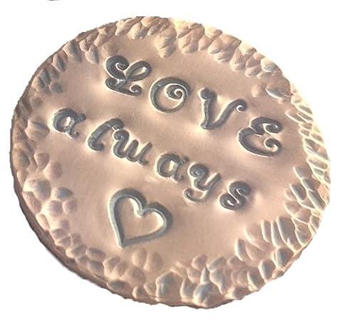 'Love Always' Personalised Hand Stamper Copper Golf Ball Marker