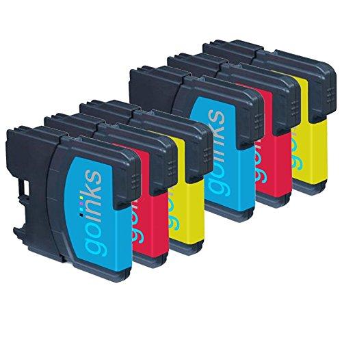 2 Go Inks Satz von 3 C/M/Y Tintenpatronen zum Austausch von Brother LC980 & LC1100 Kompatibel / Nicht-OEM zur verwendung mit Brother DCP und MFC Drucker (6 - Tintenpatronen Brother Lc61
