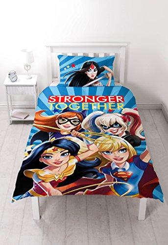 DC Comics Superhero Girls 'Super' Single Duvet Set -Großer Aufdruck