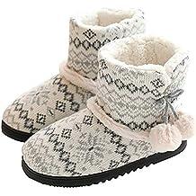 1513a7a15c40 zapatillas para mujer andar por casa - Blanco - Amazon.es