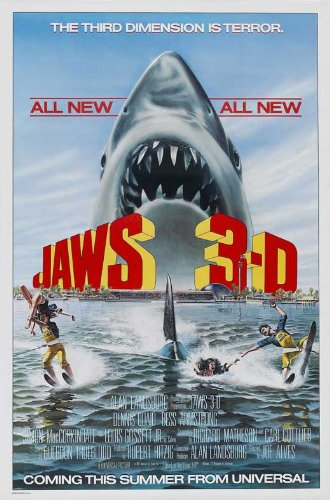 Jaws 3-D Plakat Movie Poster (11 x 17 Inches - 28cm x 44cm) (1983) (3-poster Jaws)