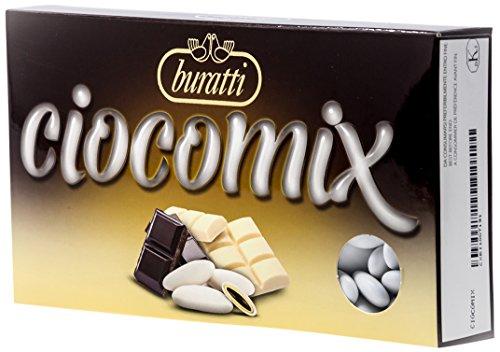 Buratti confetti al cioccolato, bianco e al latte, tenerezze ciocco mix - 1000 g