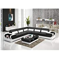 rehmans Mumbai Model Luxury Wood Sofa Set (Black)
