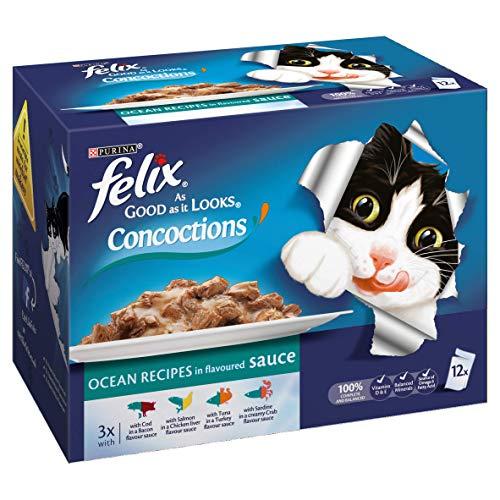 Felix As Good As It Looks Cat Food Concoctions Ocean 4 x 12 x 100g (48 Pouches)